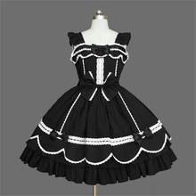 Lolita Dresses Sleeveless New Arrival Victorian Gothic Dress Gothic Renaissance Costumes For Halloween Party Customized XS-3XL(China)