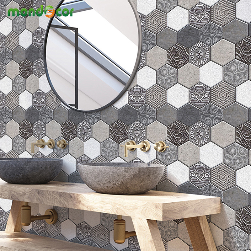 European Style 30 30cm Removable 3D Brick Wallpaper PVC Waterproof Self Adhesive Parlor Kids Room Living Room Mural Home Decor in Wallpapers from Home Improvement