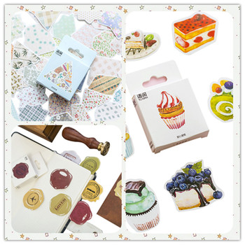 50pcs/pack DIY Diary Notebook Decoration Scrapbooking Stickers Label Greeting Card Making Album Cute Sticker 5 Styles Can Choose 50pcs box cute label stickers for diy decoration diary album scrapbooking stationery stickers