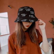 2019 Cool Harajuku Bucket Hat Women Bob Hip Hop Cap Embroidery Letter Gorros Cotton Flat Man Fishing Spring