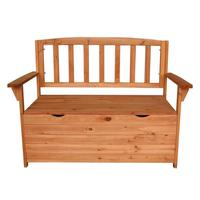 Fir Wood Courtyard Armchair Garden Chair Wooden Large Capacity Storage Box