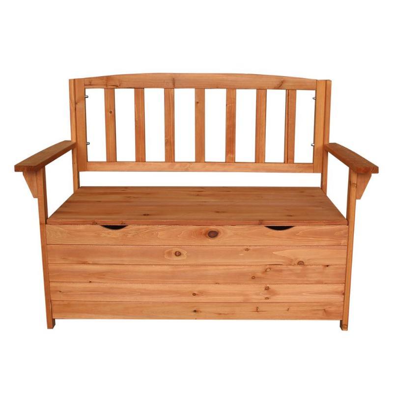 Fir Wood Courtyard Armchair Garden Chair Wooden Large Capacity Storage BoxFir Wood Courtyard Armchair Garden Chair Wooden Large Capacity Storage Box