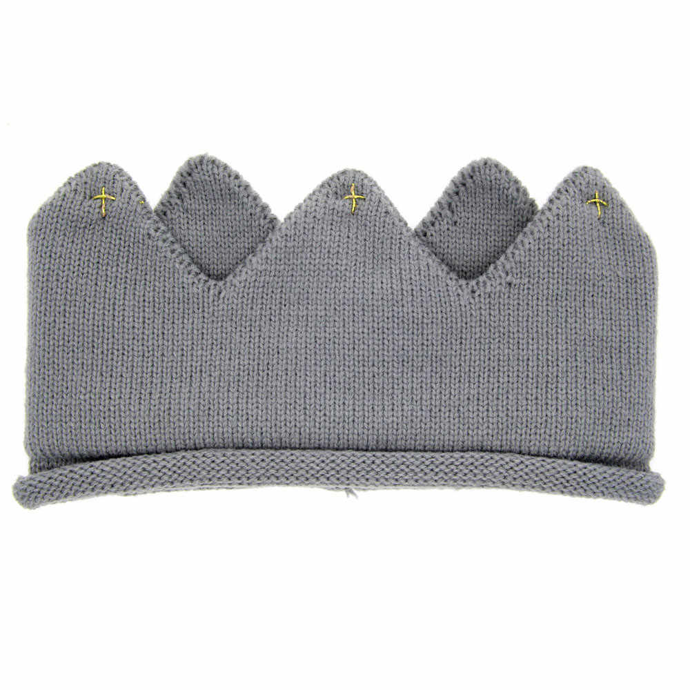 TELOTUNY hair bands Baby Boys Girls Crown Knit Headband hat a801 16