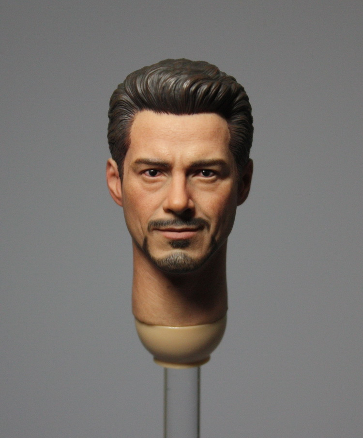 1/6 figure doll head.Iron Man The Avengers tony smile head shape.doll accessories for DIY12 action figure doll headsculpt the smile stealers