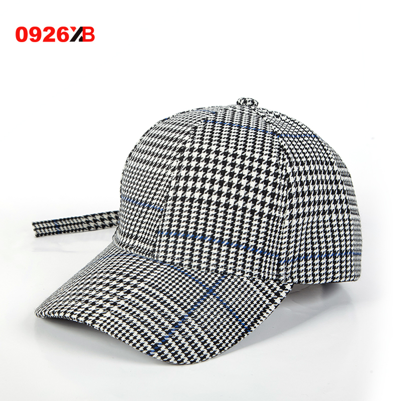 Best buy 0926XB 2017 New Fashion Autumn and winter British Plaid baseball  cap Male and female leisure peaked cap XB B496 online cheap 1a8cfc92fd5f