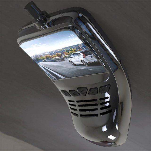 Caméra enregistreur DVR de voiture à petit tableau de bord avec caméra grand Angle Wifi 1080p