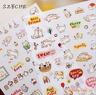 46 Pcs Pink Hot Air Balloon Paper Sticker Package DIY Diary Decoration Sticker