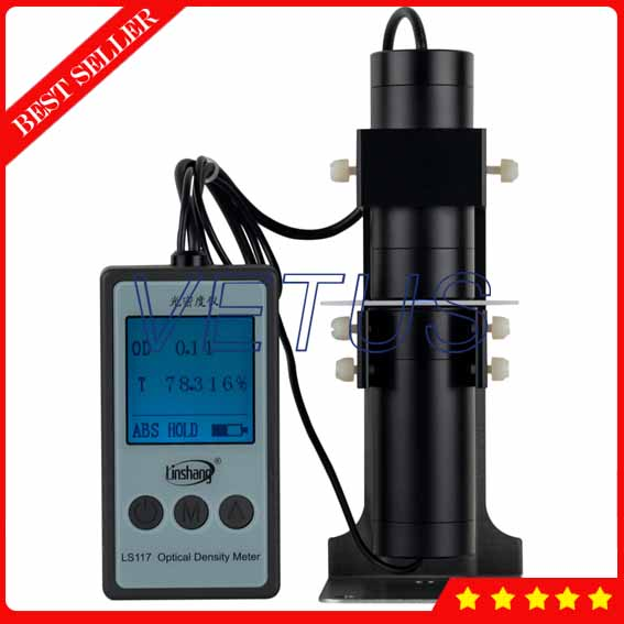 LS117 Portable Optical Densimeter Densitometer Price with Measuring range 0~6 OD high precission density gauge tester 4 8 days arrival lb92t portable sweetness tester brix meter with measuring range 58 92