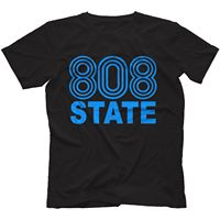 808 State T Shirt 100 Cotton Retro Rave Acid House Pacific StateAsh Summer Short Sleeves Cotton