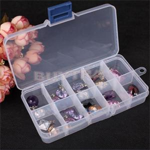 10 Clear Grid Compartments Plastic Transparent Jewel Bead Case Cover Box Storage Container Adjustable Organizer For Jewelry
