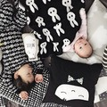 Детское одеяло новорожденного черный белый кролик крест для диван кровать Cobertores принадлежностей манатов cobertor bebe играть мат ребенка пеленать одеяло постельное бельепокрывалоконверт для новорожденныходеяло для