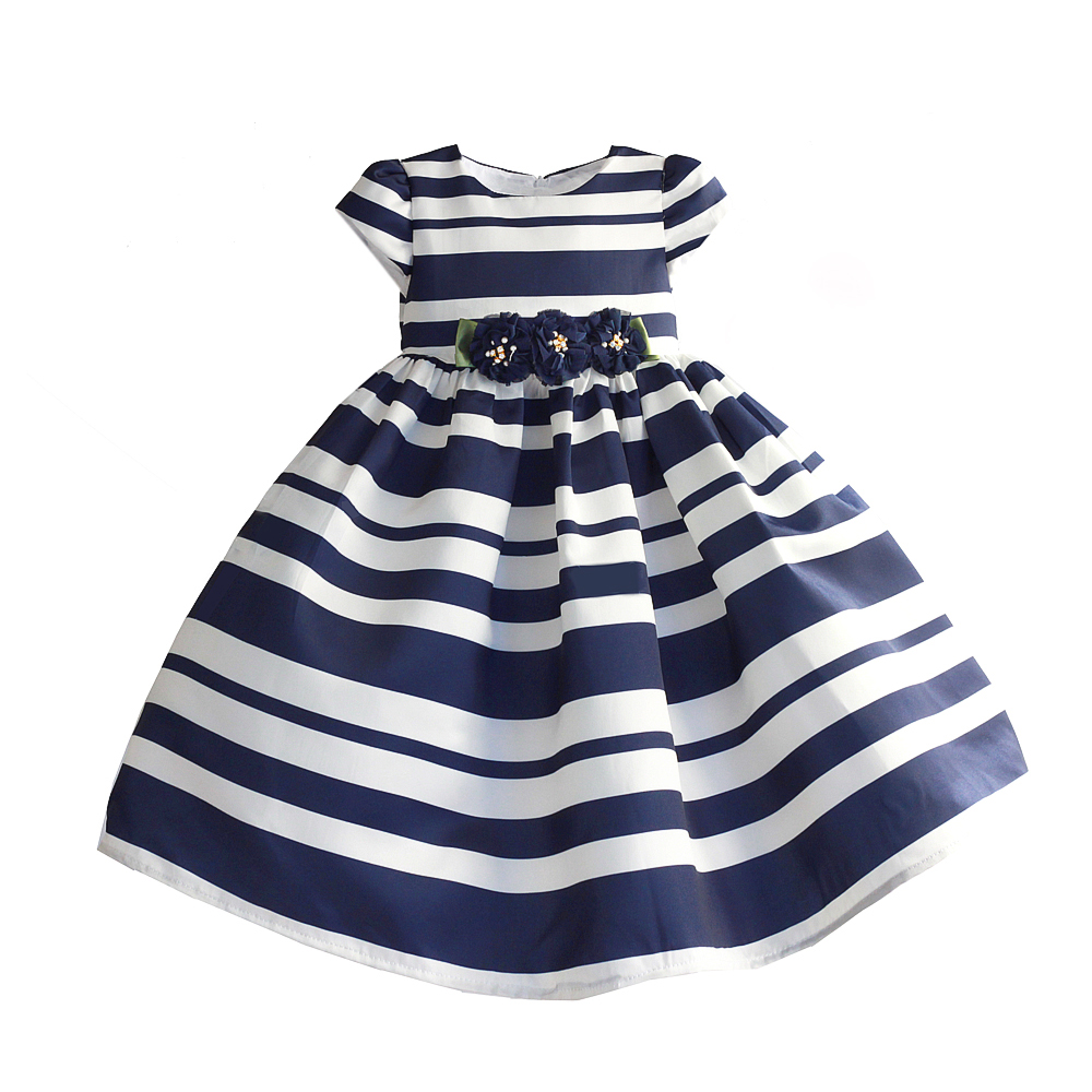 Striped Toddler Girl Dresses For Little Girls School Wear Kids Party Dress Children Party Wedding Clothing For Girl 3-8T стоимость