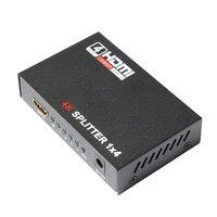 HDMI Splitter 1X4 Full HD 3D Video 1X4 Split 1 In 4 Out Amplifier Dual Display