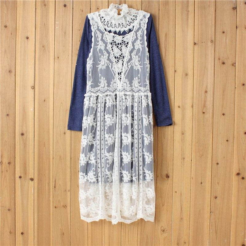Original Design Retro Lace Women Long Maxi Dress Sweet Lace Long Sleeve Casual Dresses Vintage Boho