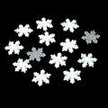 Nuevo 10 mm 100 unids copos de nieve diseño de la boda / decoración de la navidad / arte DIY