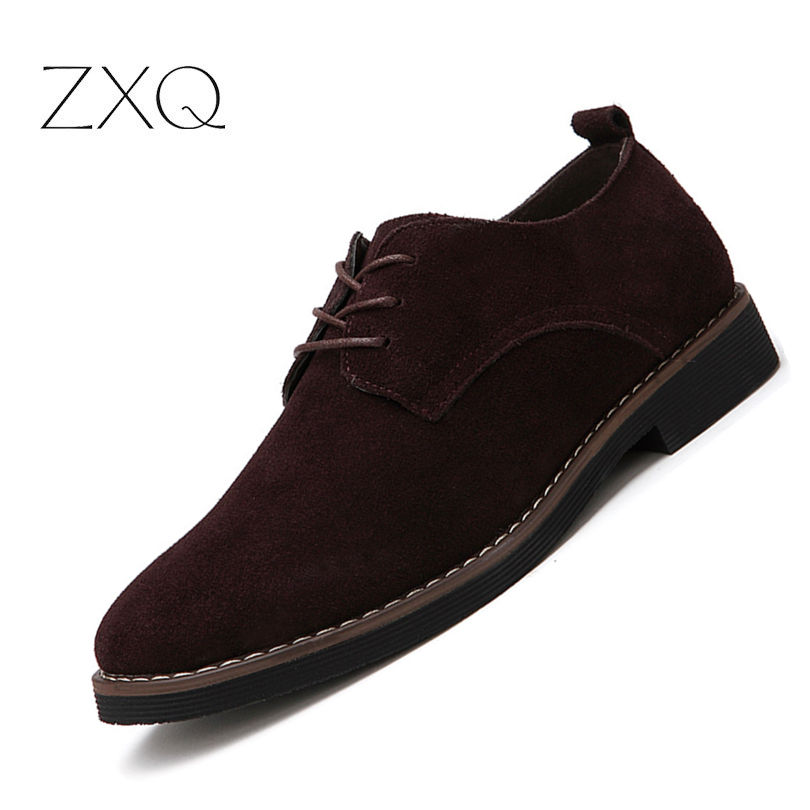 Plus la Taille 38-48 Oxford Hommes Chaussures PU En Daim En Cuir Printemps Automne Casual Hommes En Cuir Chaussures Hommes Robe Chaussures