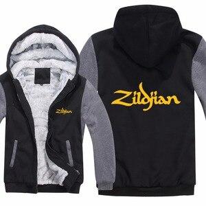Image 4 - New Winter Zildjian Hoodies Jacket Men Casual Thick Fleece Hip Hop  Zildjian Sweatshirts Pullover Man Coat