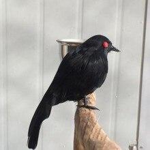 цена на Stuffed Feathered Black Raven Crow Bird Decoration Fancy Dress Halloween New