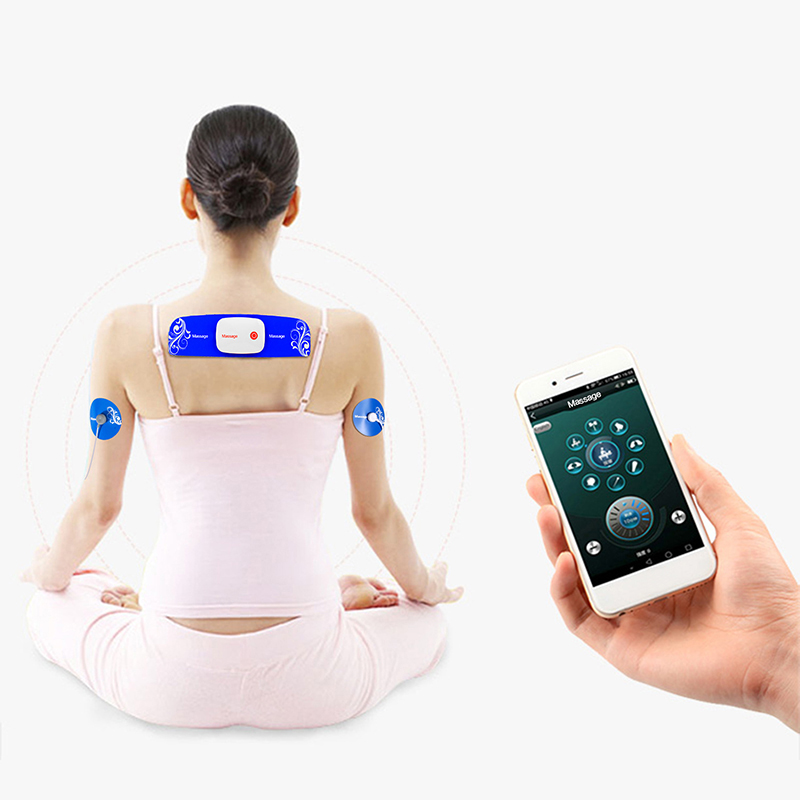 Multi-functional APP Dual-output Massager 8 Electrode Pads Electronic Pulse Muscle Stimulator Exercise Toning Slim Fit Massage 3 2017 hot sale mini electric massager digital pulse therapy muscle full body massager silver