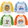 Baby cartoon T-shirt 2017 new spring wear long sleeved shirt boy children jacket tx-7960