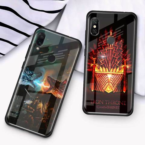 Game Of Throne House Tempered Glass Case for Xiaomi Redmi Note 7 6 Pro K20 Pro Redmi 7 Mi 9 Cell Mobile Phone Cases Cover Coque Multan