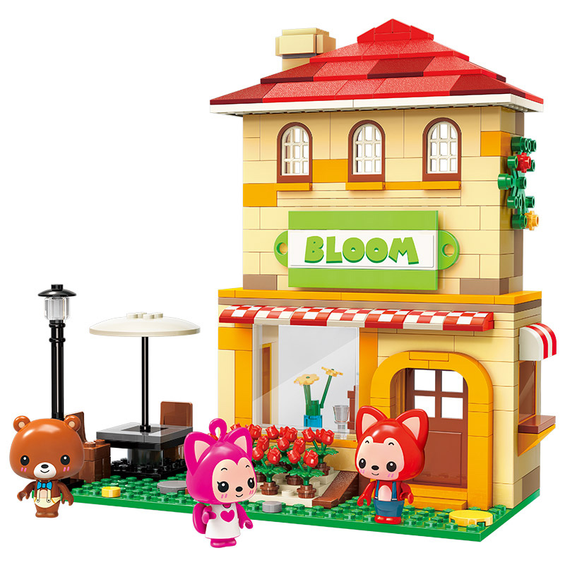 2019 New Enlighten ALI Villa Carousel Double-decker Bus City Building Bricks Model DIY Blocks Toys Girls Birthday Gifts Ali