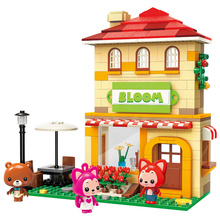 2019 New Enlighten ALI Villa Carousel Double-decker Bus City Building Bricks Model DIY Blocks Toys Girls Birthday Gifts Ali