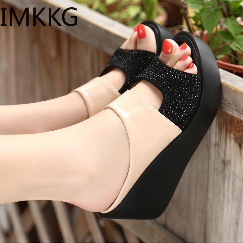 New Arrival 2019 women s sandals Women Summer Fashion Leisure Fish Mouth Sandals Thick Bottom Slippers New Arrival 2019 women's sandals Women Summer Fashion Leisure Fish Mouth Sandals Thick Bottom Slippers wedges shoes women F90084