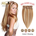 Clip In Human Hair Extensions 14-20Inch Remy Human Hair Clip In Extensions 100g Natural Hair Brazilian Clip In Extensions
