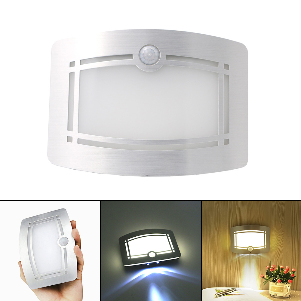 wireless infrared motion sensor wall led night light novelty battery powered porch night lamp emergency motion - Battery Operated Sconces
