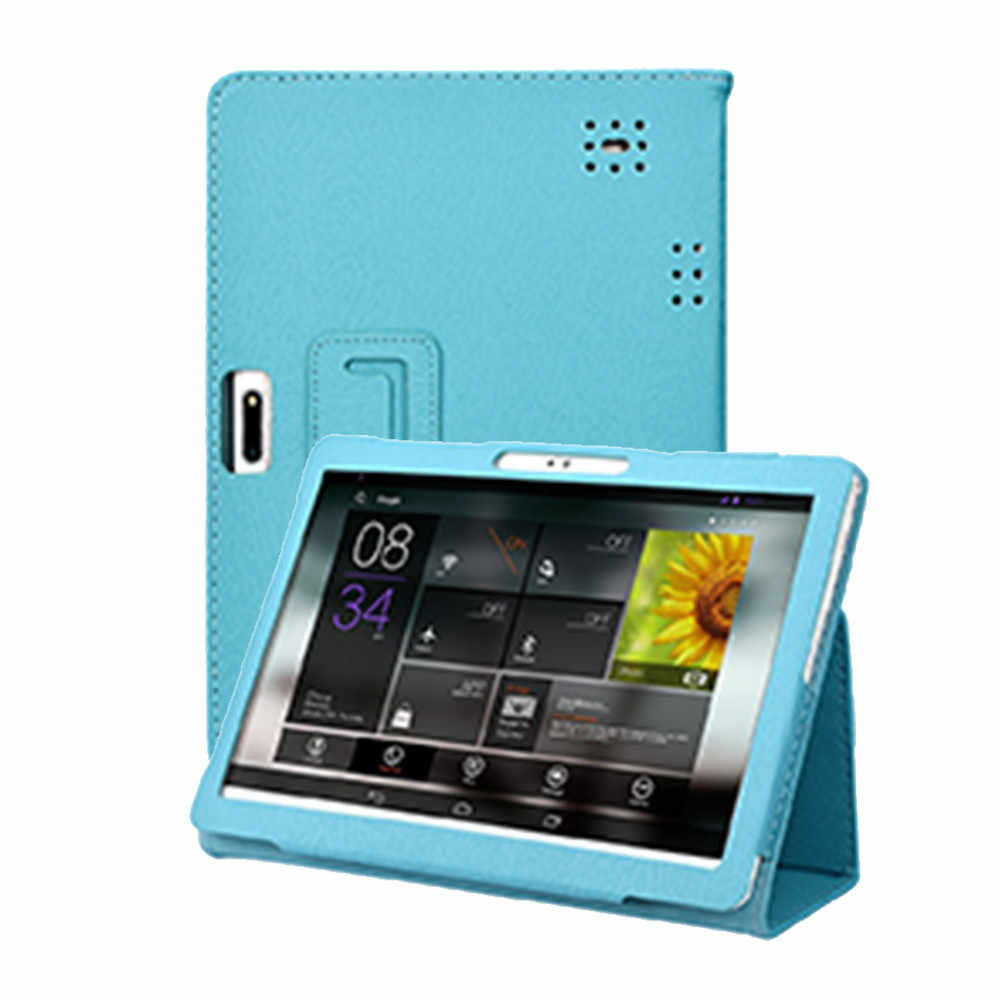 Cases tablet Universal Blue Folio Leather Stand Cover Case For 10 10.1 Inch Android Tablet PC 3.8#5$