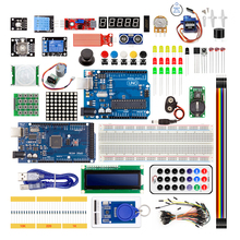 Super Starter Kit For Arduino UNO R3 & Mega2560 Board With Sensor Moudle 1602 LCD led Servo Motor Relay Learning Basic Suite [sintron] uno r3 upgrade kit with motor lcd servo module for arduino avr starter