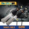 1 Par 9005 HB3 60 W 6400LM 6500 K Cool White Car Lâmpada LED Conversão Farol de Nevoeiro Luz de Circulação Diurna lâmpada