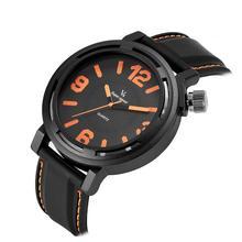 c1c68aa30a9 2017 nova big dail vogue v6 rubber band marcas hour relógio de aço Relógio  Analógico Militar dos homens Casuais Moda Presente Re.