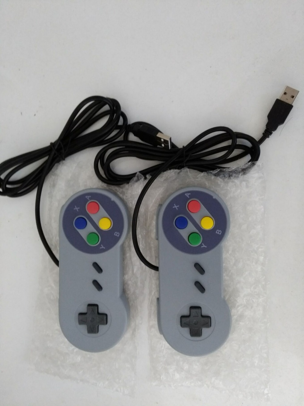 2 PCS Classic USB Controller PC Controllers Gamepad Joypad Joystick Replacement for Super Nintendo SF for SNES NES Tablet PC classic usb controller for nes
