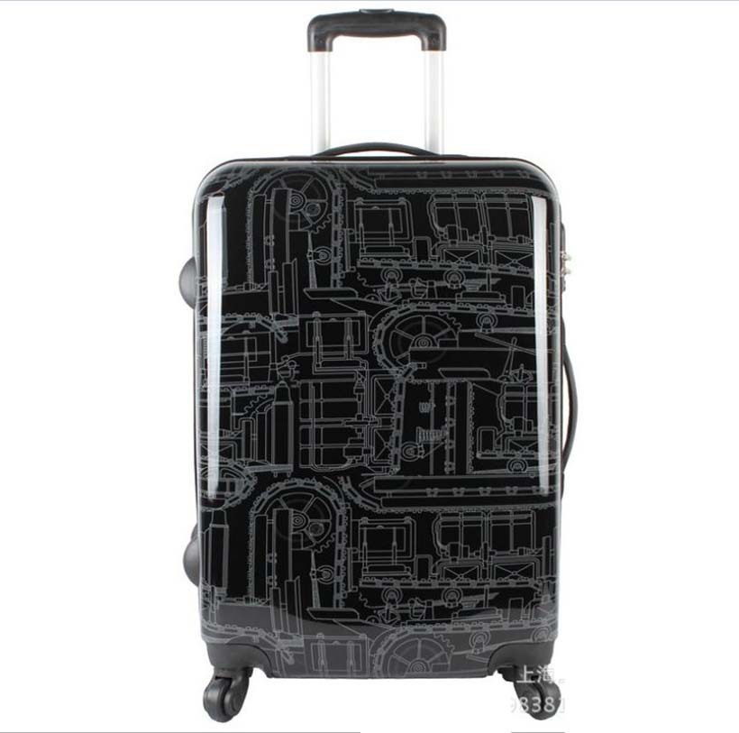 20-inch Password board chassis trolley suitcase luggage case Caster graffiti rolling luggage Men women travel case maletas valiz стоимость
