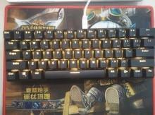 Teclado RK61 Bluetooth Cherry mx blue rk 61, mini teclado mecánico retroiluminado inalámbrico, juego de diseño de póker