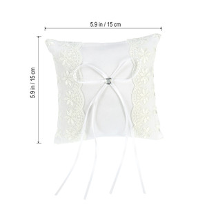 Image 5 - Lace Flower Ring Bearer Pillow Cushion Decorated Bridal Wedding Ceremony Pocket Wedding Accessories Decoration