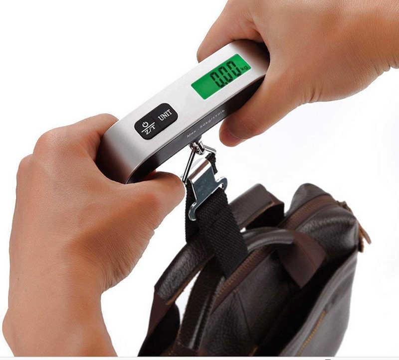 110lb/50 kg mini valises portatives échelle pour sacs à main bagages voyage balances suspendues balance poche numérique LCD