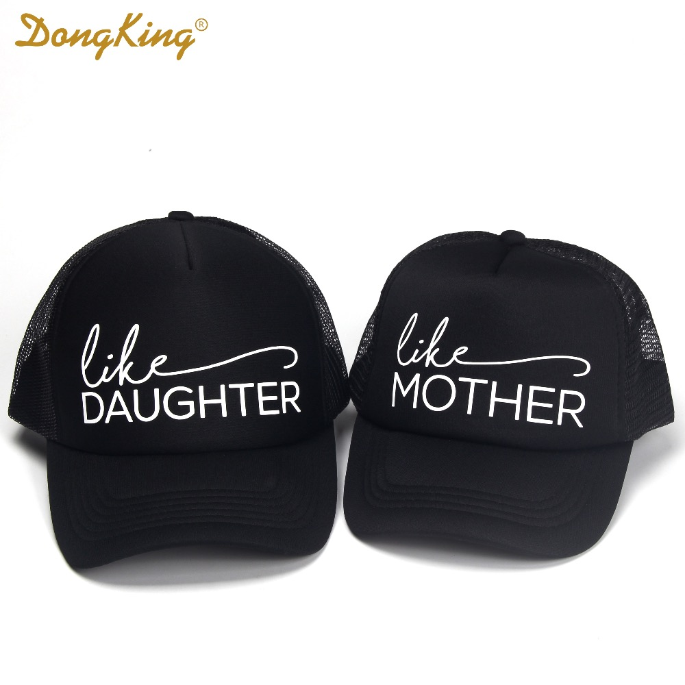 aa293f48e94 US $8.0 |DongKing Trucker Hat Like Mother Print Like Daughter Hat Set Mommy  and Me Hats Mama Cap Baby Child Kids Trucker Family Gift-in Men's Baseball  ...