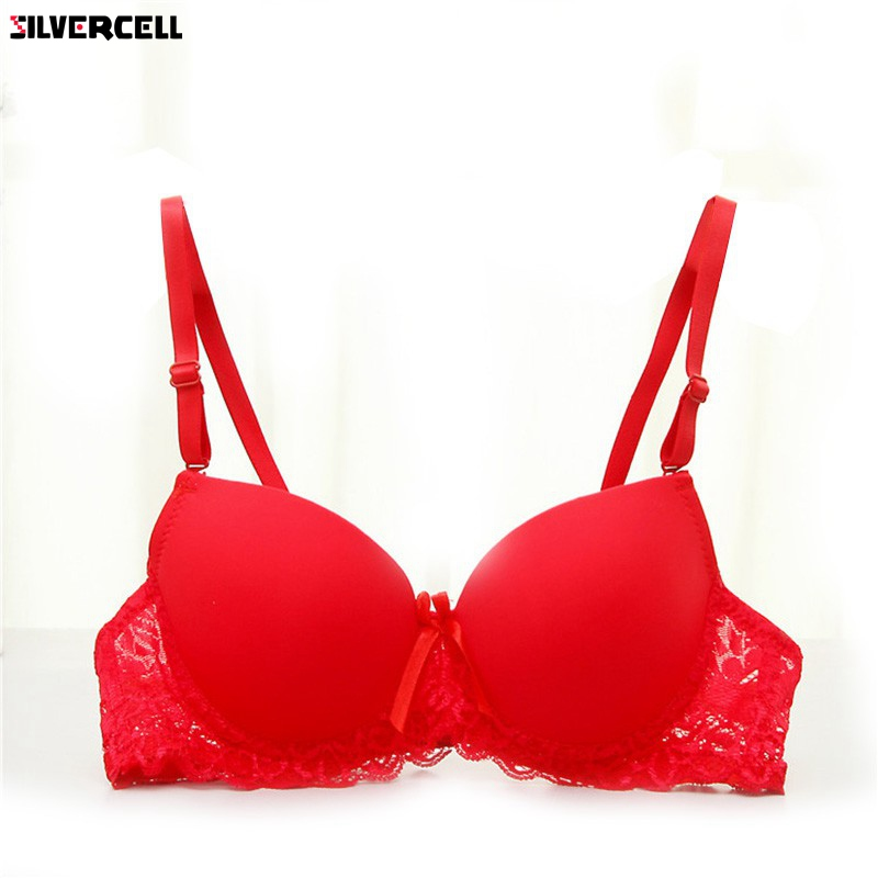 Frauen <font><b>Bra</b></font> Lace Under Dessous Unterwäsche Push-Up <font><b>Bra</b></font> Padded Büstenhalter 34A-<font><b>36B</b></font> image