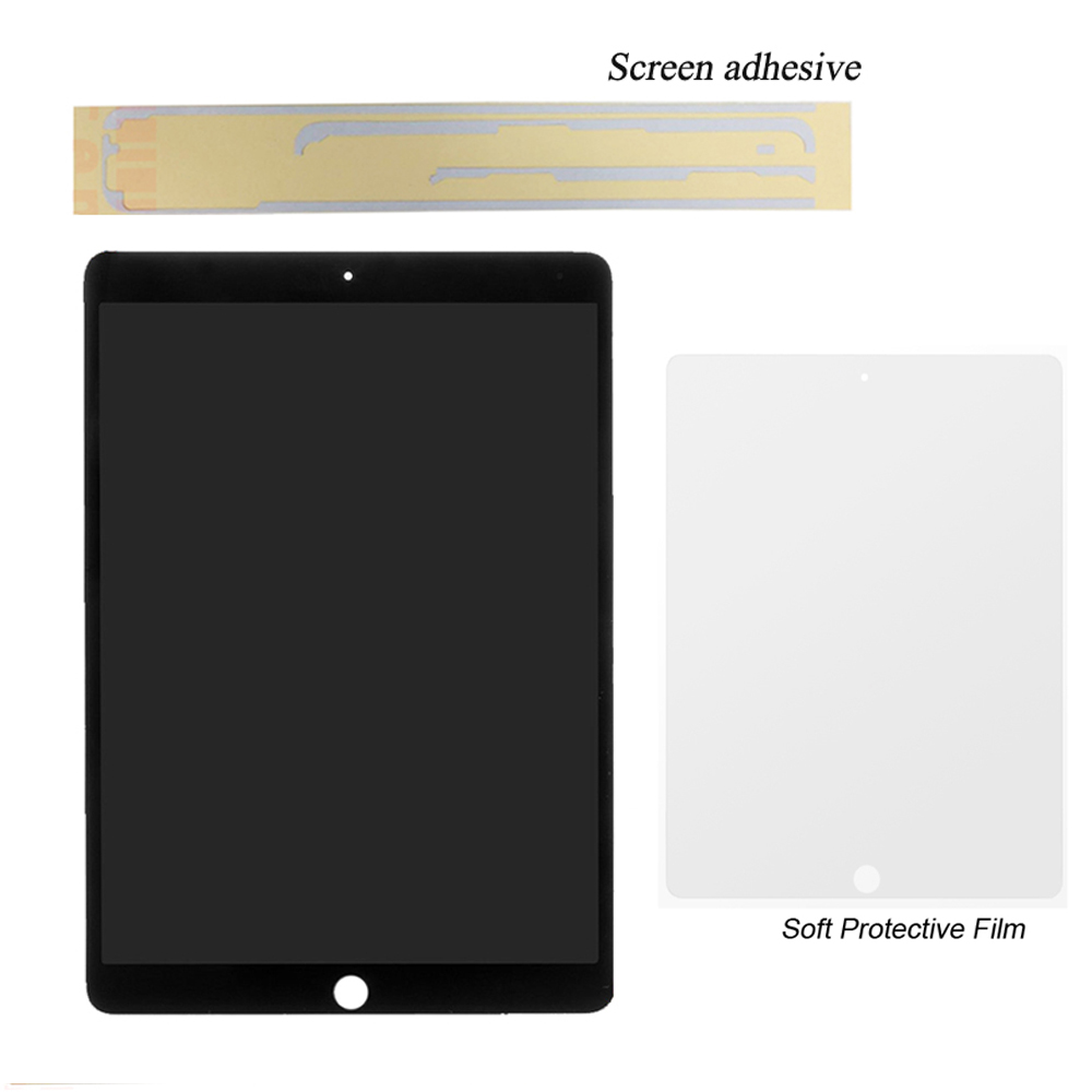 1 Pcs 100% Novo e Trabalhar Para a Apple iPad air 2 (Para iPad 6) a1566 A1567 Assembléia Display LCD Touch Screen Assembly Panel + Cola + Filme