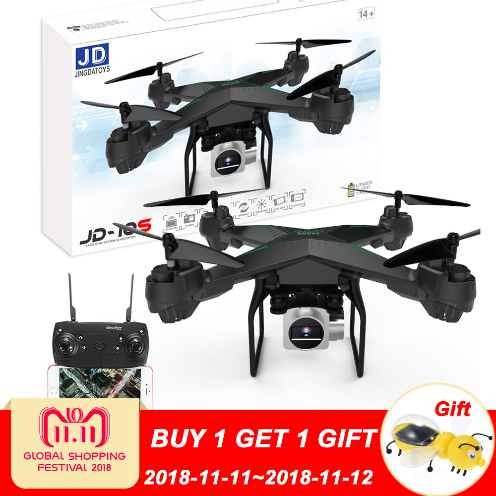 цена JDRC JD-10S JD10S WiFi FPV With 2MP Wide Angle HD Camera Altitude Hold RC Drone Quadcopter 6-Axis One Key To Return в интернет-магазинах