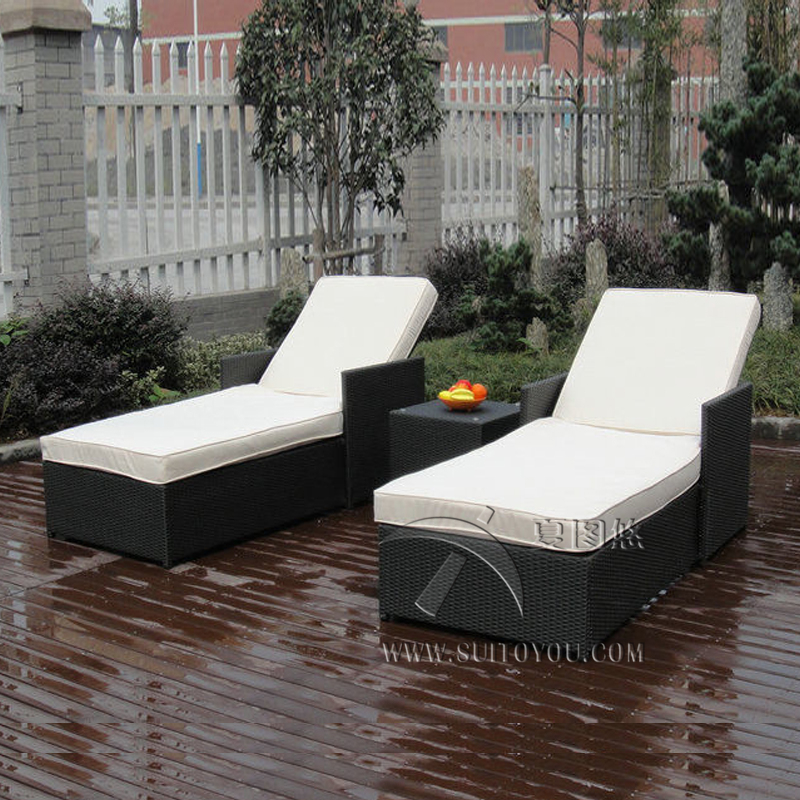 wicker chaise lounge with arms outdoor set ikea adjustable resin font