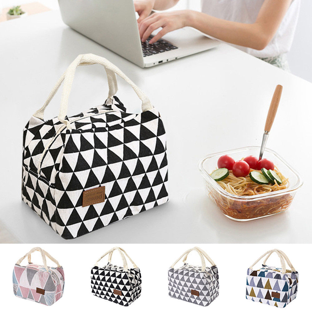 Functional Pattern Cooler Lunch Box Portable Insulated Canvas Lunch Bag Thermal Food Picnic Lunch Bags For Women KidsFunctional Pattern Cooler Lunch Box Portable Insulated Canvas Lunch Bag Thermal Food Picnic Lunch Bags For Women Kids