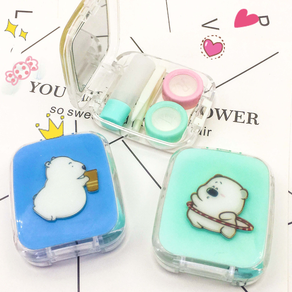Apparel Accessories Lovely Contact Lens Box Cute Panda Cartoon Unisex Container For Contact Lens Case Latest Technology