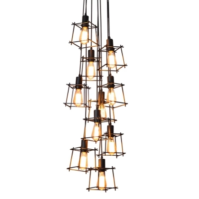 Industrial Loft Vintage pendant lights Personality Wrought Iron lights nordic eedison lamp cage lamp lighting fixturesIndustrial Loft Vintage pendant lights Personality Wrought Iron lights nordic eedison lamp cage lamp lighting fixtures