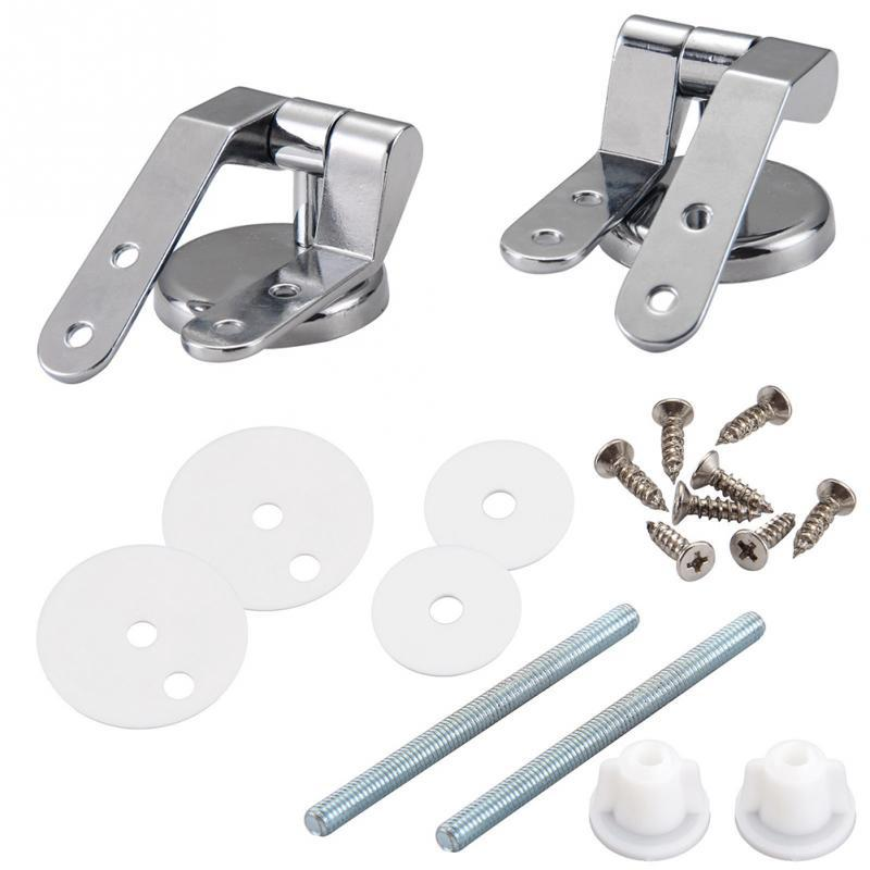 Stainless Steel Toilet Seat Hinge Replacement Parts Mountings with Screws Bolts and Nuts