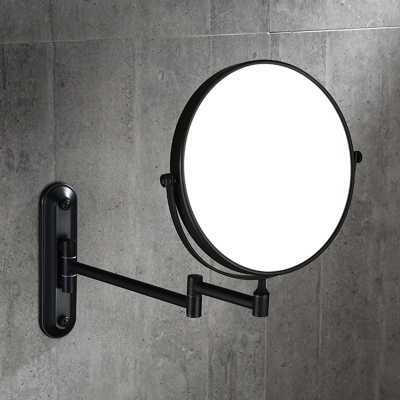black bronze 8 Inch Cosmetic Mirror Dual Arm Extend 3 x Magnifying Mirror Wall Mounted new fashion 6 inches led bathroom mirror dual arm extend 2 face metal makeup mirror 5x magnifying wall mounted extending folding