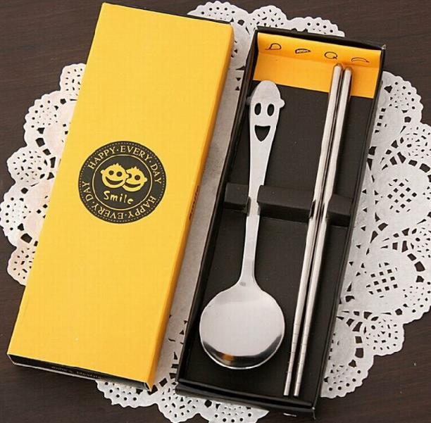 Кухня посуда и улыбающимися героями мультфильмов посуда небольшие подарки коробка столовые сервизы 10 компл./лот - Цвет: Цвет: желтый